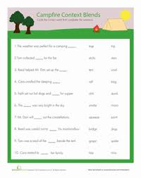 complete this sentence blends in context worksheet education com