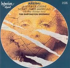 revue de cuisine martinu la revue de cuisine nonet three madrigals dartington