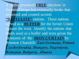 Winston Churchill And The Iron Curtain Benchmark E U2013 Post World War Ii Ppt Download