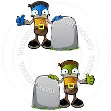 Cartoon Halloween Monsters Cartoon Halloween Monster With Gravestone By Designwolf Toon