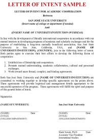 how to write a letter of intent for undergraduate college how to
