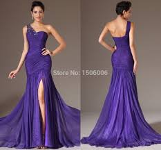 aliexpress com buy flowing purple prom dresses plus size one