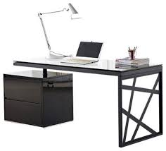 j u0026m furniture kd01 modern office desk in black contemporary
