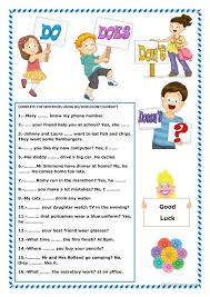 do or does worksheets printable do does did worksheet free esl