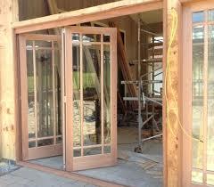 Exterior Folding Door Hardware Tri Fold Patio Doors Oak Exterior Doors Tri Fold Exterior Door