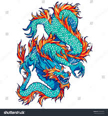 traditional asian dragon vector illustration isolated stock vector
