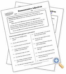 demonstrative adjectives worksheetworks com