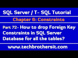 Sql Server Drop Table If Exists by How To Drop Foreign Key Constraints In Sql Server Database For All
