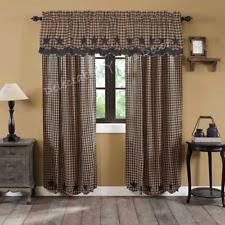 Primitive Kitchen Curtains Rustic Primitive Curtains Drapes Valances Ebay