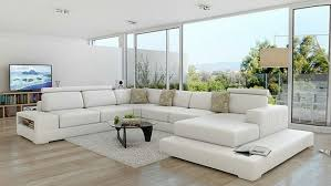 Modern Genuine Leather Sofa Luxury Modern Genuine Leather Sofa In Living Room Sofas From