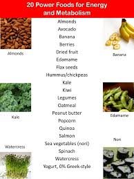 20 power foods to eat to boost energy