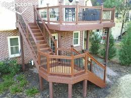 Deck Patio Designs by Best 25 High Deck Ideas On Pinterest Second Story Deck Two