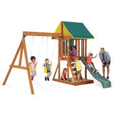 Amazon Backyard Playsets - furniture big backyard appleton wooden playsets with swing set