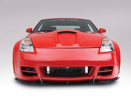 Nissan 350z Red - stillen front bumper splitter for stillen series 2 front bumper
