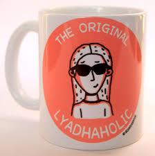 the original lyadhaholic female coffee mug from the bong sense