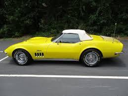 black and yellow corvette 1968 chevrolet corvette stingray convertible 350 v8 4 speed yellow