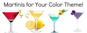 martini mocktini signature cocktails for your color theme