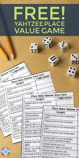 score some points with place value yahtzee place value games