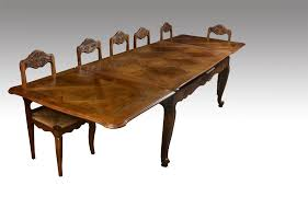 French Provincial Table 12 Seater Large Parquetry Top French Provincial Style Draw Leaf