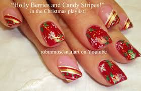 easy christmas nails freehand youtube easy christmas nails diy