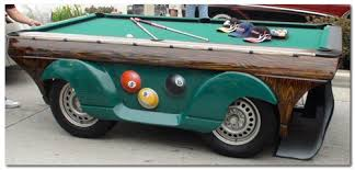 Types Of Pool Tables by Pool Table Car By Triangle Billiards And Big Daddy Vini Bergeman
