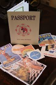 invitation that looks like a passport especially the