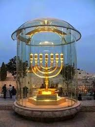 jerusalem menorah golden menorah solid gold located at one of the stairs that go