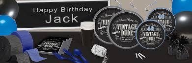 Vintage Birthday Decorations Vintage Dude 40th Birthday Theme Shindigz