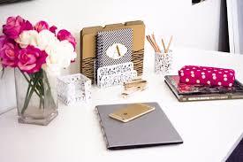 Pink Desk Accessories Set White Desk Organizer For 3 Desk Accessories Set