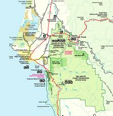 california map national parks redwood national park map california redwoods map