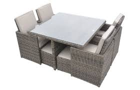 Fold Out Coffee Table Barcelona Square Compact Table 4 Fold Out Chairs And 4