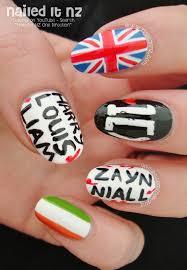 tutorial nail art one direction astonishing one direction nail art of trends and s popular nail art