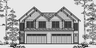 hillside garage plans multi family sloping lot plans hillside plans daylight basement