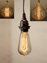 Vintage Light Bulb Pendant Antique Vintage Edison Bulb In Pendant Light Swag L 3
