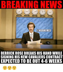 D Rose Memes - breaking news derrick rose breaks his hand while signing his new