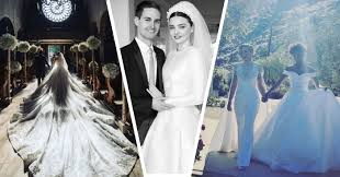 wedding dress captions miranda kerr marries snapchat founder in custom couture