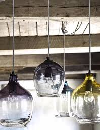 Blown Glass Pendant Lights Eclectic Blown Glass Pendant Lights The Forest Co