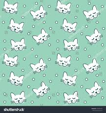 cat wrapping paper cat meow blue white kids stock vector 334945082