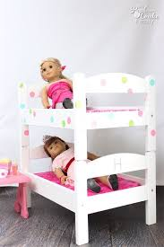 wooden doll bunk beds doll bunk bed bedding pottery barn kids home
