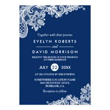 wedding invitations blue navy blue wedding invitations announcements zazzle