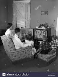 Living Room Clipart Black And White Family Watching Tv Black And White Stock Photos U0026 Images Alamy