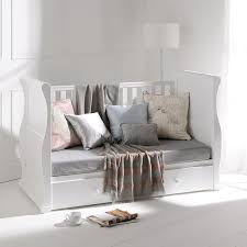 White Sleigh Cot Bed Alaska Sleigh Cot Bed With Drawer White