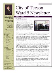 councilmember richard fimbres ward 5 april 2013 newsletter