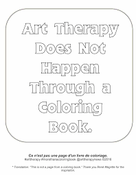 art therapy does not happen through an coloring book