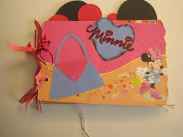 Mickey Mouse Photo Album A Minnie Mouse Mini Memories Scrapbooking Or By Scrappantry On Zibbet