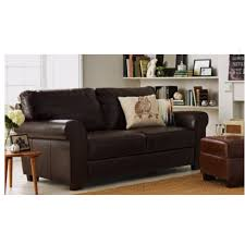 Large Armchair Salisbury Large Leather Sofa Chocolate Furnico Village