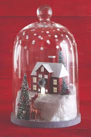 93 best christmas cloche images on pinterest bell jars glass