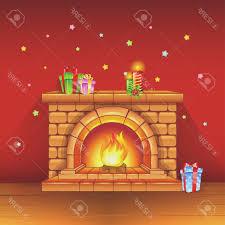 fireplace awesome christmas fireplace scene small home