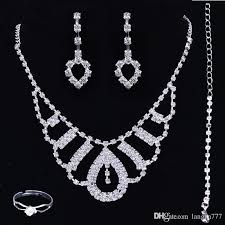 accessories ring necklace images Bridal luxury cheap bridal jewelry sets prom party wedding jpg