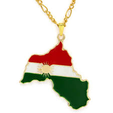 Kurdish Flag 100 Stücke Großhandel Vergoldet Ypg Kurdistan Region Karte